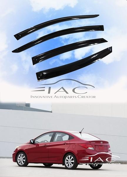 Hyundai Accent 4Dr 2011-2017 台製晴雨窗 【IAC車業】