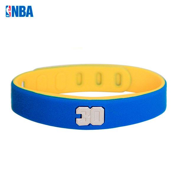 2016 新款 NBA 授權矽膠籃球運動手環 調整型 柯里金州勇士 30號 Stephen Curry