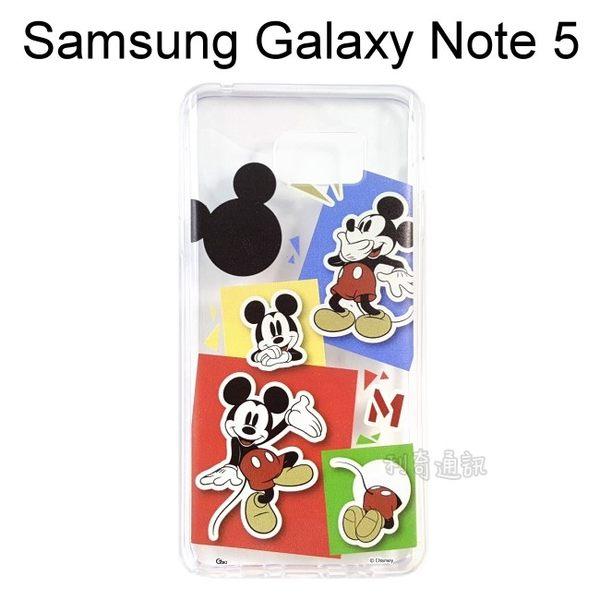 迪士尼透明軟殼 [人物] 米奇 Samsung N9208 Galaxy Note 5【Disney正版授權】