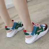 涼鞋新款女夏季韓版平底潮女士運動休閒包頭網紅學生百搭女鞋 草莓妞妞