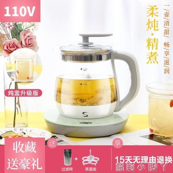110V伏養生壺多功能煮茶器出國日本美國加拿大用加厚玻璃壺小家電 NMS蘿莉新品