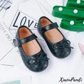兒童簡約豆豆鞋女童休閒皮鞋