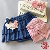 【日本製】日本製 禮品組 嬰兒 8ozDENIM 燈籠短褲 暖腿套 髮夾 藍色 SD-1322 -