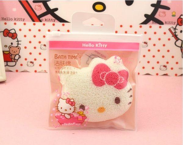 【Hello Kitty】 卡通可愛 手套洗臉沐浴洗面棉 屈臣氏寶寶潔膚海棉