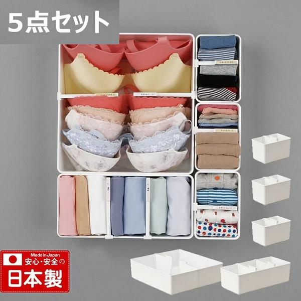 【日本製】【Inomata】日本製 內衣收納盒 五件組(一組:12個) SD-13681-12 - Inomata