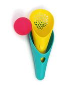 里和Riho 比利時Quut酷萌娃 戲水玩沙道具 多功能漏斗刨杯 一組三入,含兩個杯子一顆球,可玩拋接