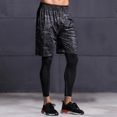 緊身褲男健身褲跑步運動壓縮褲籃球打底褲緊身衣男高彈速幹訓練褲 【korea時尚記】