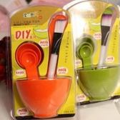 敷臉Diy面膜必備套裝工具組 (面膜碗+棒+刷+計量匙)-艾發現