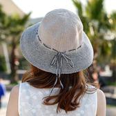 休閒出遊遮陽帽 可折疊防曬漁夫帽戶外太陽帽m65