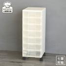 樹德玲瓏盒A4資料櫃7層抽屜櫃附輪文件櫃PC-1107W附輪-大廚師百貨