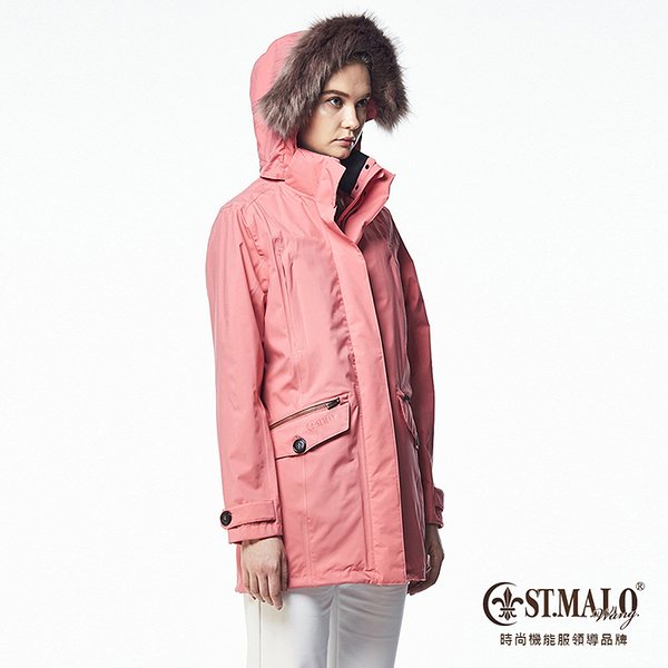 【ST.MALO】Sympatex精品鉑金防護女大衣-1648WJ-粉玫紅