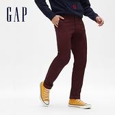 Gap男裝 簡約風格直筒休閒長褲 440943-葡萄紫