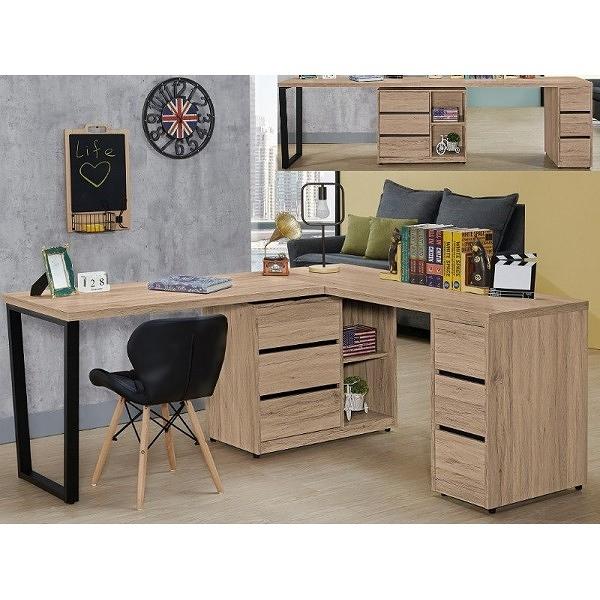 書桌 電腦桌 QW-520-4 祖克柏5.8尺多功能組合書桌 (不含其它產品)【大眾家居舘】