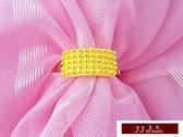 9999純金 黃金金飾 簡單素雅 滿天星 閃閃星晨 訂婚 結婚 婚戒 黃金戒指
