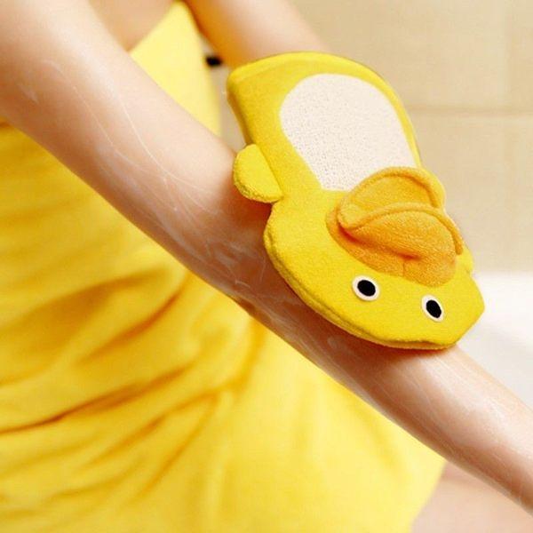 可愛黃色小鴨玩偶沐浴巾 手套搓澡巾 YC-3221【魔小物】「現貨1」