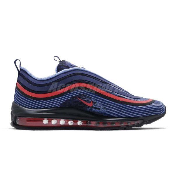【六折特賣】Nike 休閒慢跑鞋 Air Max 97 UL 17 藍 紅 反光設計 男鞋 大氣墊【PUMP306】 918356 500
