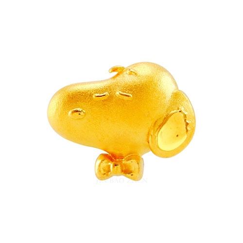 史努比SNOOPY-優雅紳士-單顆黃金串珠