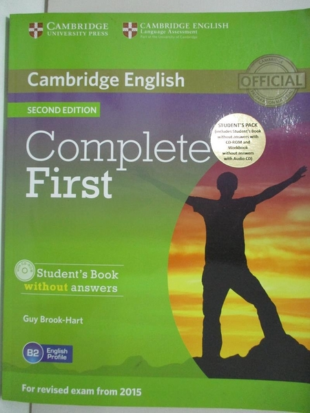 【書寶二手書T1/原文書_EGJ】Complete First Student's Book Without Answers_Brook-Hart, Guy