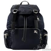 茱麗葉精品【全新現貨】BURBERRY 80077111 THE RUCKSACK 軍旅後背包.深藍 (大款)