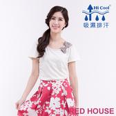 【RED HOUSE 蕾赫斯】蕾絲拼接棉T恤(共3色)
