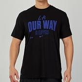 Nike 男 NBA 洛杉磯 快艇隊 黑 籃球 運動 短袖 上衣 CK8811-010