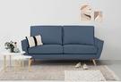 【歐雅系統家具】哈米納高背布沙發-三人座-深藍 / 沙發 / 三人沙發 / 北歐風 / 12層內材