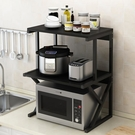 微波爐架 廚房置物架落地多層家用調料收納架臺面雙層烤箱微波爐架子置物架 LX coco