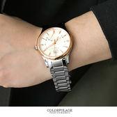 Valentino范倫鐵諾不鏽鋼手錶腕錶 24小時飛返指針功能玫瑰金色調 藍寶石 柒彩年代【NE1396】單支