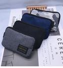 新日系男女個性拉鏈短款零錢包手拿包硬幣卡...