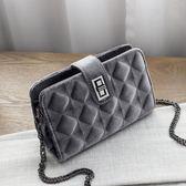 秋冬時尚菱格紋絨面多夾層小包 側背包 手拿包 1088-1,0133米莎 misha