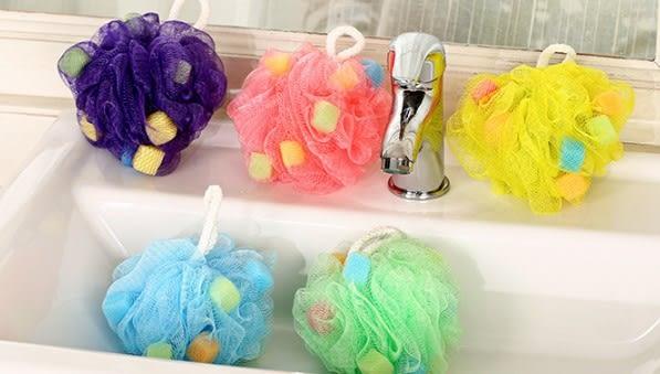 [協貿國際] 可愛海綿浴球夏季沐浴球浴擦彩球沐浴球 (10個價)