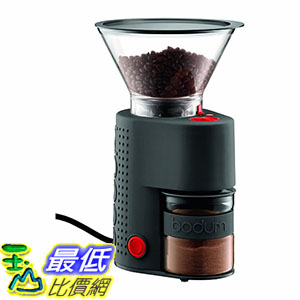 [106美國直購] Bodum Bistro Electric Burr Coffee Grinder, Black 咖啡磨豆器