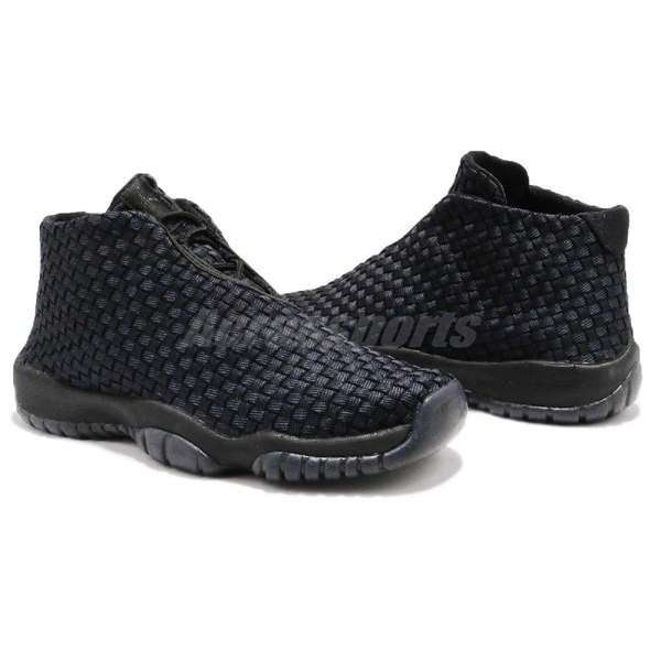 Nike Air Jordan Future BG 黑 全黑 編織鞋面 XI 喬丹11代中底設計 女鞋 大童鞋【PUMP306】 656504-001