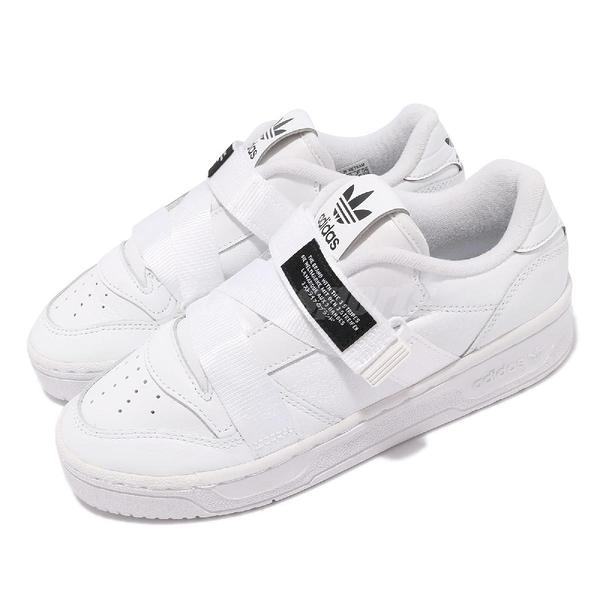 adidas 休閒鞋 Rivalry Low W Strap 白 黑 女鞋 綁帶設計 愛迪達 厚底【ACS】 EF6428