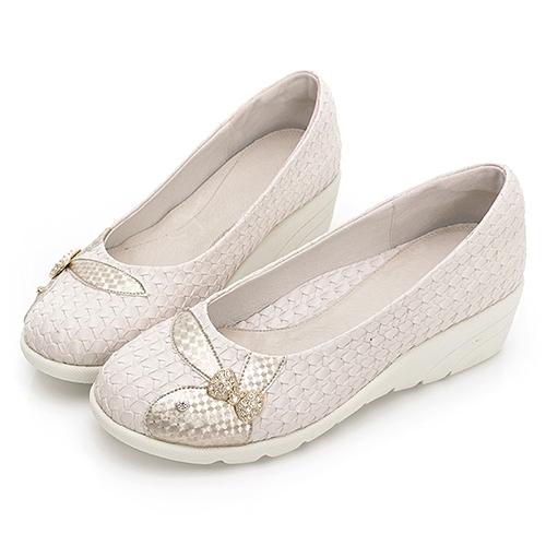 PLAYBOY GOPLAY Charming專利娃娃鞋-米(Y7292)