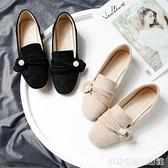 豆豆鞋女年新款百搭仙女溫柔復古平底晚晚鞋網紅珍珠夏季單鞋 居家物语