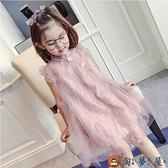 女童旗袍連身裙兒童夏季無袖背心紗裙小女孩超洋氣薄款公主裙【淘夢屋】