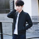 男士夾克外套 新款春裝韓國修身帥氣棒球服學生春秋潮休閒上衣