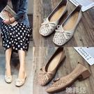 包頭涼鞋 包頭涼鞋女夏中跟新款韓版百搭學生仙女風復古粗跟鏤空單鞋 韓菲兒
