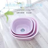 雙11狂歡方形塑料臉盆寶寶嬰兒盆兒童洗臉盆家用洗衣洗菜盆   初見居家