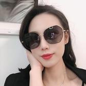 墨鏡女士眼鏡時尚太陽鏡女大框ins防紫外線韓版網紅大臉圓臉顯瘦墨鏡 雲朵走走
