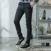 【OBIYUAN】工作褲 素面長褲 彈性 直條紋拼接 休閒褲  共2色【P2135】