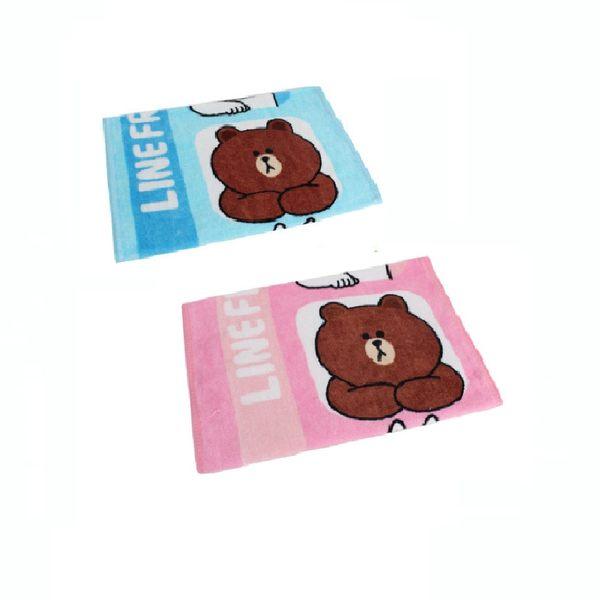 【銅板價】Line明星純棉童巾-熊大兔兔饅頭人好友款(共2色)