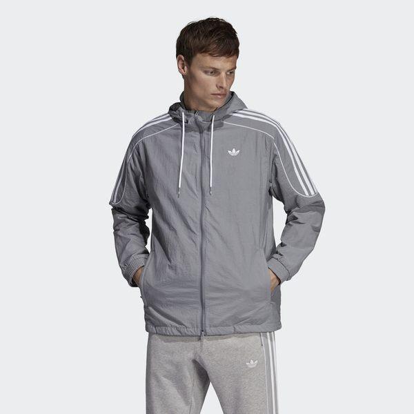 Adidas Orginals Radkin Wb 灰 白刺繡logo 風衣 外套 男(布魯克林) 2019/1月 DU8144