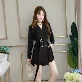 超殺29折 韓國風大翻領寬鬆顯瘦兩穿長袖單品外套
