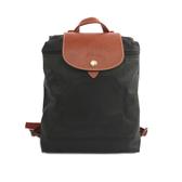 【LONGCHAMP】LE PLIAGE尼龍折疊後背包(黑色)1699089001