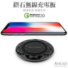 AHEAD領導者 QC2.0 鑽石快速無線充電板/快充板 超薄無線充電器 無線充電座 for iPhone 8/8Plus/XS/XS Max/XR
