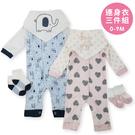 DL三件套連身衣(含三角巾) 新生兒連身...