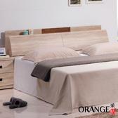 【采桔家居】萊里斯 時尚5尺木紋雙人床頭箱(附便利插座+不含床底&床墊)