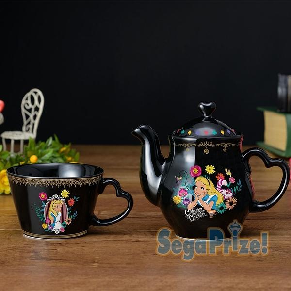 日本SEGA PLAZA 景品 愛麗絲夢遊仙境陶瓷壺杯組_ SE30536